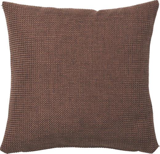KISSENHÜLLE Dunkelbraun 50/50 cm - Dunkelbraun, Basics, Textil (50/50cm)