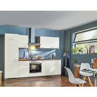 KÜCHENBLOCK - Eichefarben/Weiß, Design, Holzwerkstoff (280cm) - Welnova