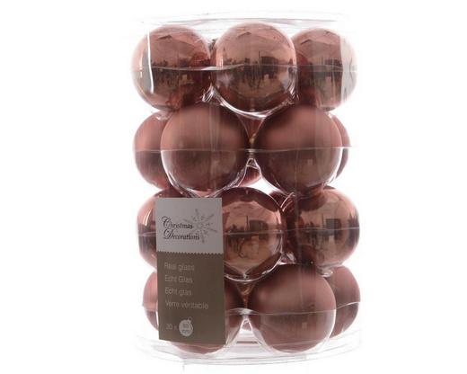 CHRISTBAUMKUGEL-SET  20-teilig Pink - Pink, Basics, Glas (6cm)