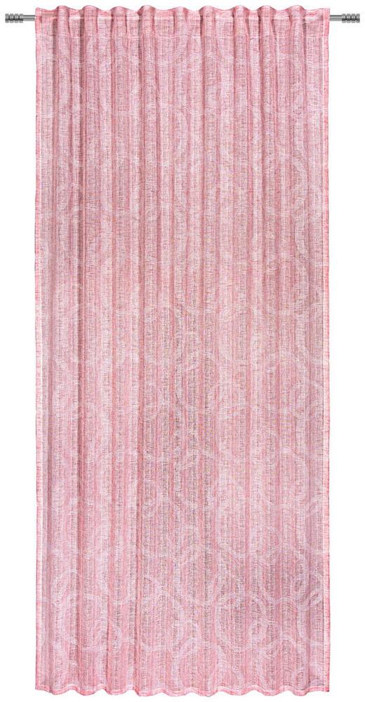 FERTIGVORHANG  halbtransparent  140/245/ cm - Rosa, KONVENTIONELL, Textil (140/245/cm) - Esposa