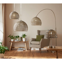HÄNGELEUCHTE - Grau, LIFESTYLE, Holz/Metall (30/150cm)