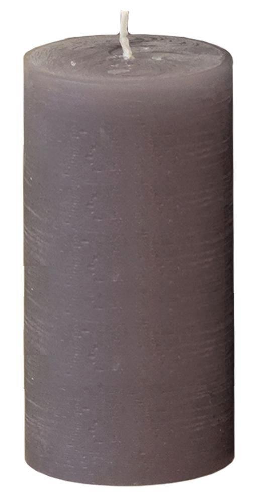 STUMPENKERZE - Grau, Basics (7,8/15cm) - Ambia Home