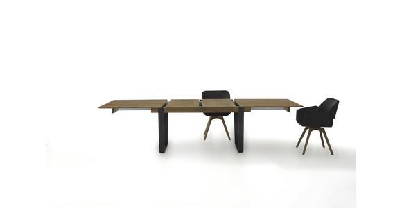 ESSTISCH Kerneiche vollmassiv rechteckig Anthrazit, Eichefarben  - Eichefarben/Anthrazit, Design, Holz/Metall (190(240)/95/76cm) - Valnatura