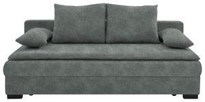 SCHLAFSOFA in Textil Grau  - Schwarz/Grau, KONVENTIONELL, Kunststoff/Textil (207/74-94cm) - Venda
