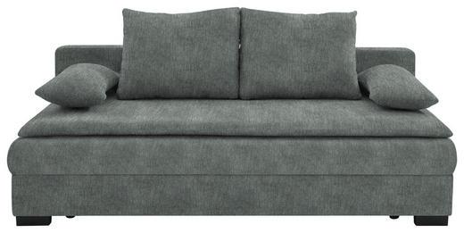SCHLAFSOFA in Textil Grau - Schwarz/Grau, KONVENTIONELL, Kunststoff/Textil (207/74-94/90cm) - Venda