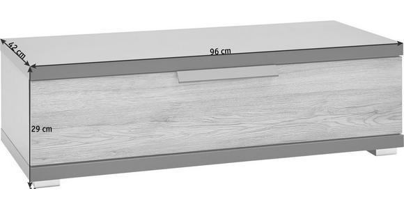 KOMMODE Eichefarben, Graphitfarben - Chromfarben/Eichefarben, KONVENTIONELL, Kunststoff/Metall (96/29/42cm) - Voleo