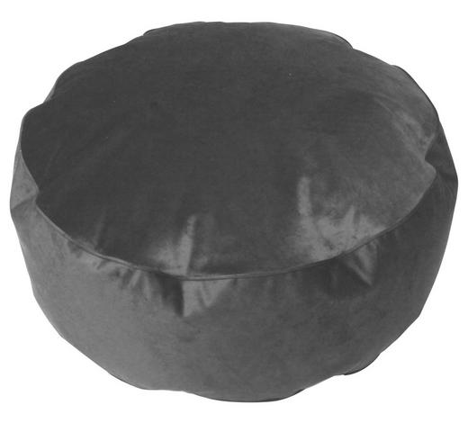 HOCKER in Textil Grau  - Grau, MODERN, Textil (80/30cm)