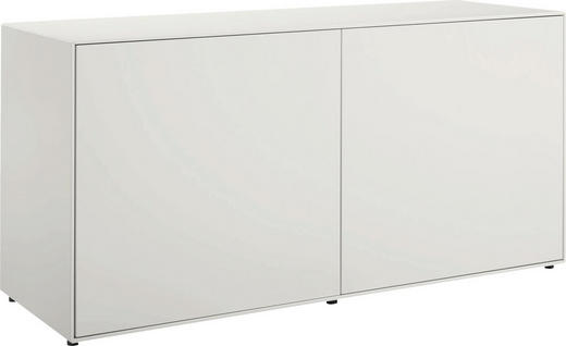 LOWBOARD lackiert Weiß - Weiß, Design, Holzwerkstoff (128/64/44,8cm) - Hülsta - Now