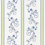 VORHANGSTOFF per lfm  - Blau/Weiß, LIFESTYLE, Textil (160cm) - Landscape