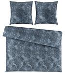 BETTWÄSCHE Satin Blau 200/200 cm  - Blau, KONVENTIONELL, Textil (200/200cm) - Ambiente