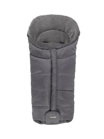Fußsack Südpol - Anthrazit, KONVENTIONELL, Textil (47/92/9cm) - My Baby Lou