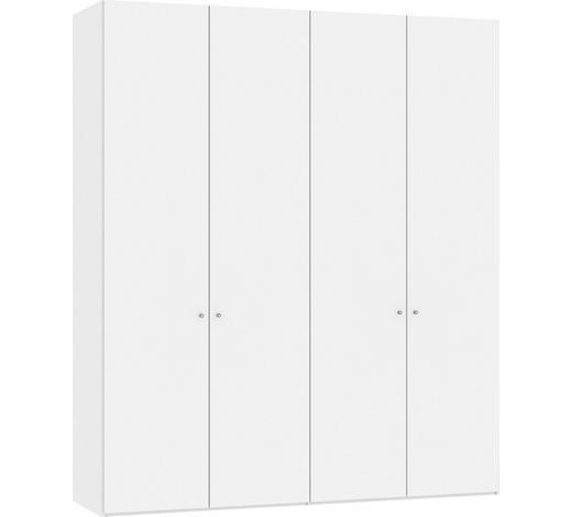DREHTÜRENSCHRANK in Weiß - Silberfarben/Weiß, Design, Glas/Holzwerkstoff (202,5/236/58,5cm) - Jutzler