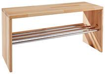 SCHUHREGAL 81/40,5/30 cm  - Buchefarben, Natur, Holz/Metall (81/40,5/30cm) - Linea Natura