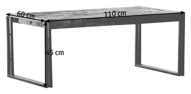 SOFFBORD - brun/grå, Design, metall/trä (110/60/45cm)