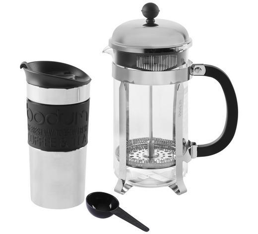 KAFFEEBEREITER-SET - Chromfarben/Transparent, Design, Glas/Kunststoff (1 + 0,35l) - Bodum