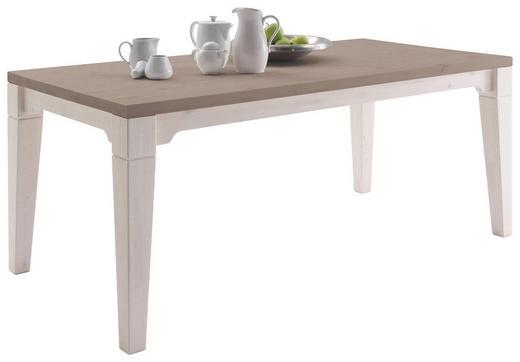 ESSTISCH Kiefer massiv rechteckig Grau, Weiß - Weiß/Grau, Design, Holz (180/90/74cm) - Carryhome