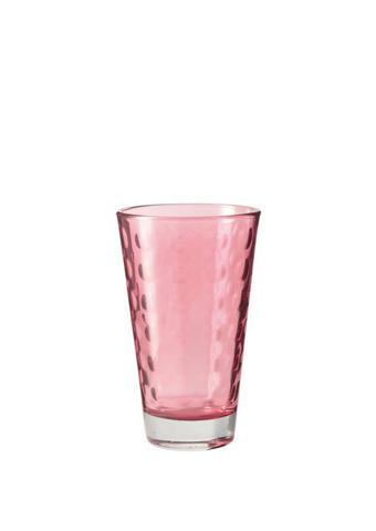 KOZAREC OPTIC RUBINO, 300ML - roza, Konvencionalno, steklo (8/13/8cm) - Leonardo