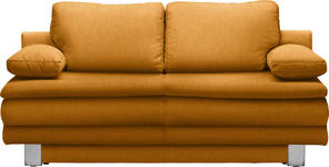 SCHLAFSOFA Gelb  - Chromfarben/Gelb, Design, Textil/Metall (194/96/86cm) - Novel
