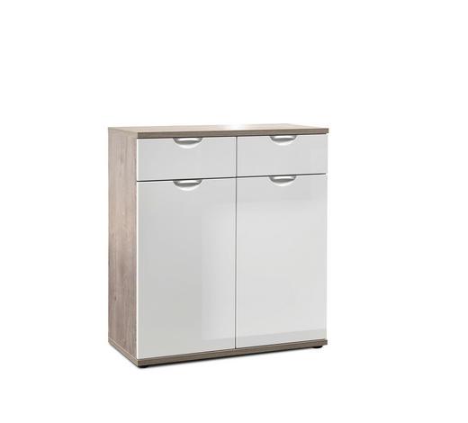 KOMMODE 80/89/38 cm - Chromfarben/Eichefarben, KONVENTIONELL, Holzwerkstoff/Metall (80/89/38cm) - Xora