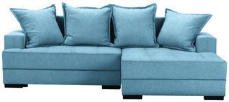 WOHNLANDSCHAFT in Textil Blau  - Blau/Schwarz, KONVENTIONELL, Holz/Textil (238/148cm) - Carryhome