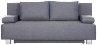 SCHLAFSOFA in Textil Grau  - Chromfarben/Grau, Design, Textil/Metall (197/88/89cm) - Xora