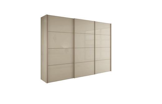 SCHIEBETÜRENSCHRANK 3  -türig Sandfarben - Sandfarben, Design, Holzwerkstoff/Metall (242/229,6/67,7cm) - HÜLSTA