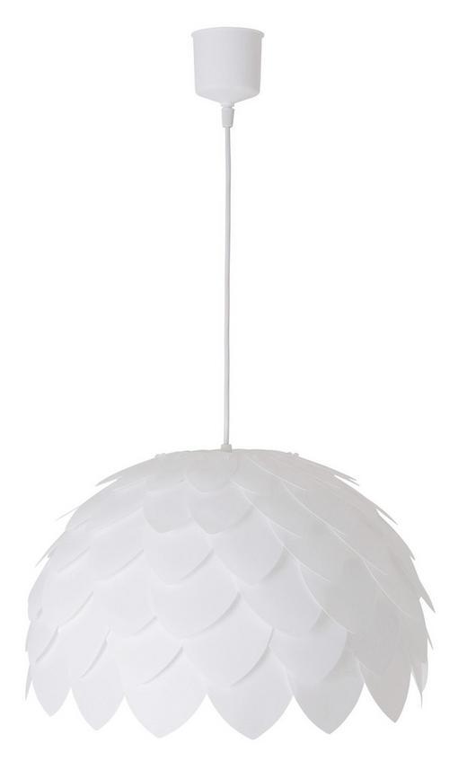 HÄNGELEUCHTE - Weiß, LIFESTYLE, Kunststoff (40cm)