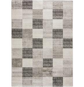 VÄVD MATTA 160/230 cm - grå, Klassisk, plast (160/230cm) - Novel