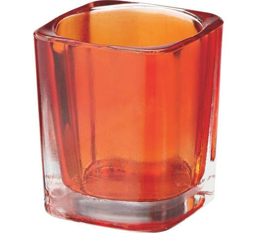 TEELICHTGLAS - Orange, Basics, Glas (0cm)