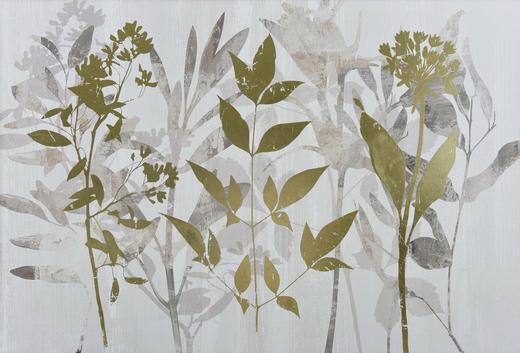 Blätter BILD - Multicolor, LIFESTYLE, Holz/Textil (120/80cm) - Monee