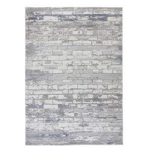 VÄVD MATTA 80/150 cm - blå, Design, textil (80/150cm) - Novel