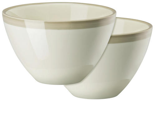 SCHÜSSELSET Keramik Porzellan 2-teilig - Grau, Basics, Keramik (0,45l)