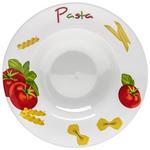 PASTATELLER 27 cm  - Gelb/Rot, Basics, Keramik (27cm) - Homeware