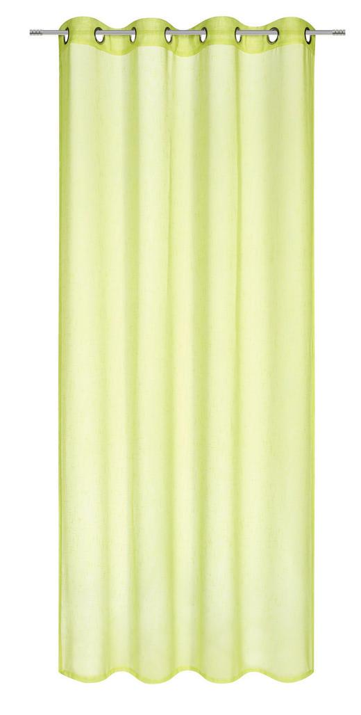 ÖSENVORHANG halbtransparent - Grün, Basics, Textil (135/245cm) - Boxxx
