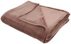 KUSCHELDECKE 150/200 cm - Dunkelbraun, Basics, Textil (150/200cm) - Novel