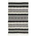 FLECKERLTEPPICH  160/230 cm  Schwarz, Weiß   - Schwarz/Weiß, MODERN, Kunststoff (160/230cm) - Esposa
