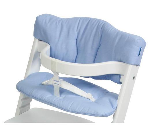 VLOŽKA NA VYSOKOU ŽIDLI, pastelově modrá - pastelově modrá, Basics, textil (23/42cm) - My Baby Lou