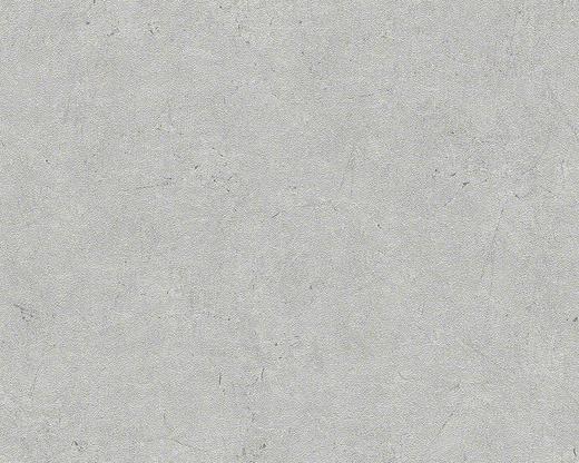 VLIESTAPETE 10,05 m - Hellgrau, Basics, Textil (53/1005cm)