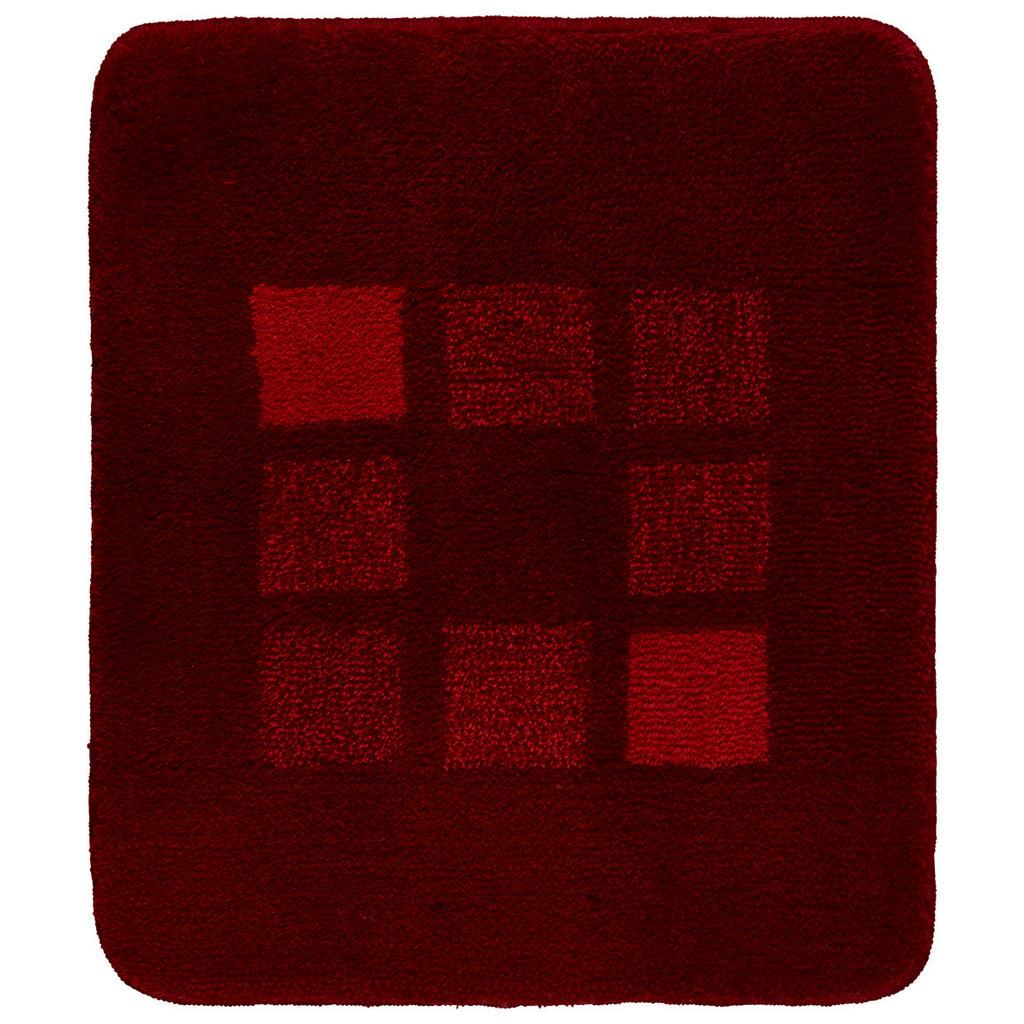 Kleine Wolke Badteppich in rot 50/60 cm