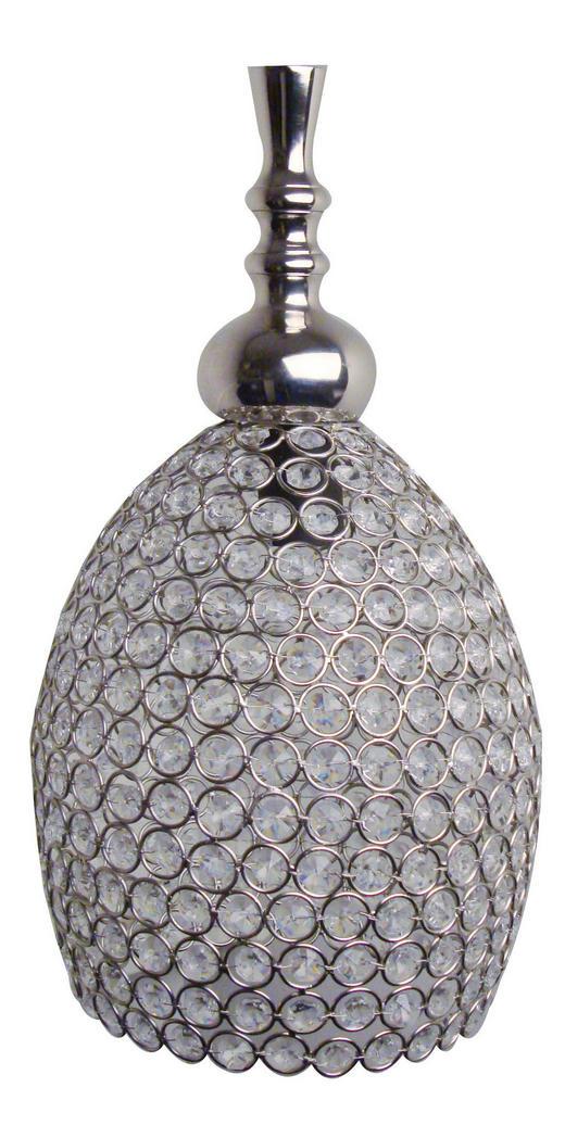 HÄNGELEUCHTE - Silberfarben, LIFESTYLE, Glas (23cm)