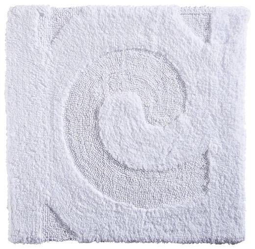 BADTEPPICH  Weiß  60/60 cm - Weiß, Basics, Kunststoff/Textil (60/60cm) - Ambiente
