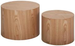 BEISTELLTISCHSET Esche furniert Eschefarben - Eschefarben, Design, Holz - Cantus