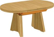 COUCHTISCH in Holzwerkstoff, Metall 110(150,5)/65/54-73 cm - Eichefarben, KONVENTIONELL, Holzwerkstoff/Metall (110(150,5)/65/54-73cm) - Venda