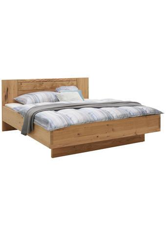 Bett 180 cm   x 200 cm   in Holz Eichefarben  - Eichefarben, Natur, Holz (180/200cm) - Voglauer