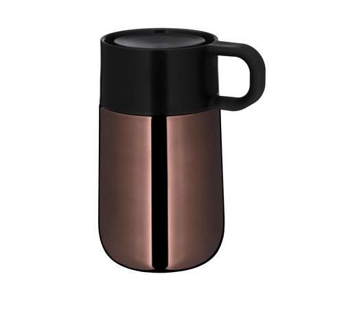 ISOLIERBECHER 0,3 l - Schwarz/Kupferfarben, Design, Kunststoff/Metall - WMF