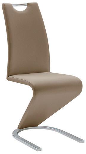 SVIKTSTOL - brun/kromfärg, Basics, metall/textil (45/102/62cm)