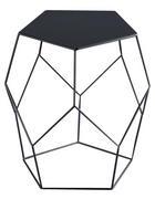 KLUBSKA MIZA, 40/45,5/39 cm črna  - črna, Moderno, kovina (40/45,5/39cm) - Xora