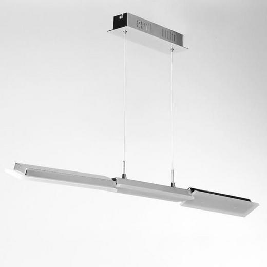 LED-HÄNGELEUCHTE - Chromfarben, Design, Kunststoff/Metall (100/7/150cm) - Joop!