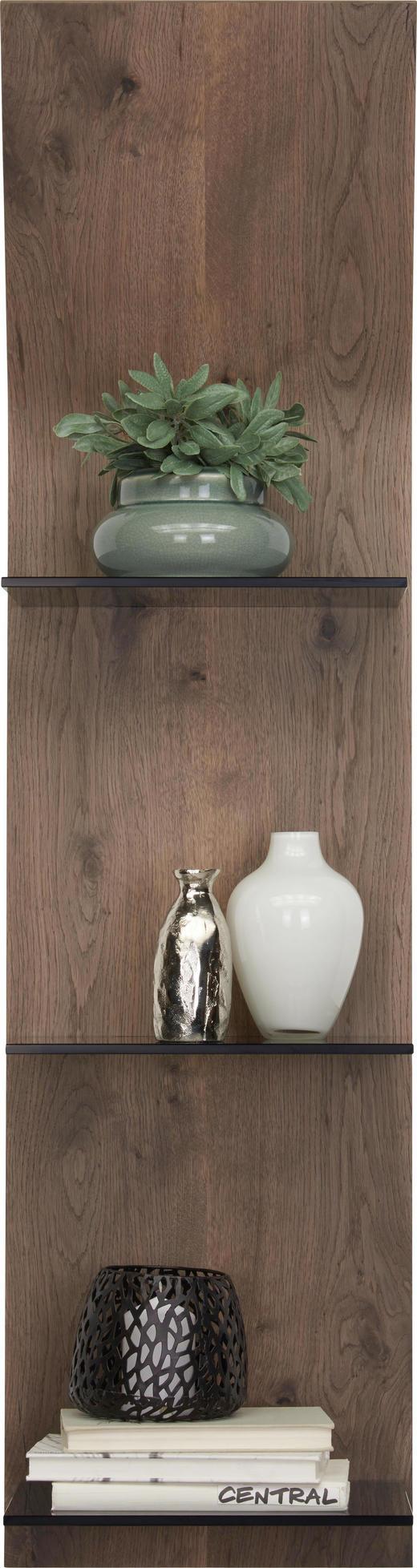 WANDPANEEL Eiche furniert gebeizt Eichefarben - Eichefarben, Design, Glas/Holz (32,5/123,2/23,5cm) - Moderano