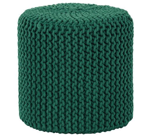 POUF in Textil  - Grün, Trend, Textil (44/44cm) - Carryhome